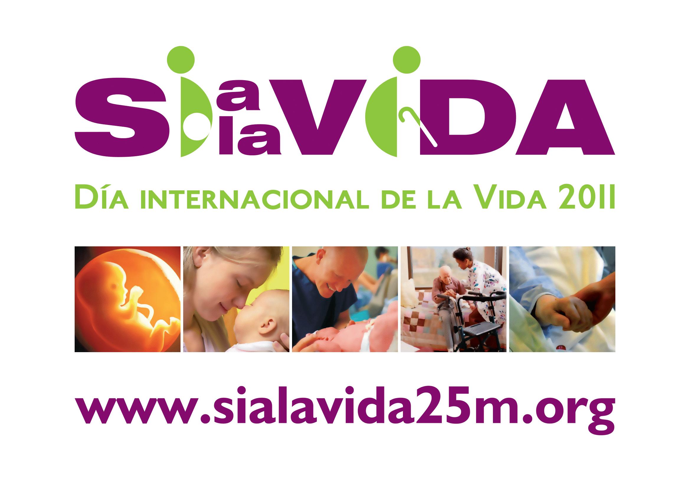 Pancarta del Dïa Internacional de la Vida 2011