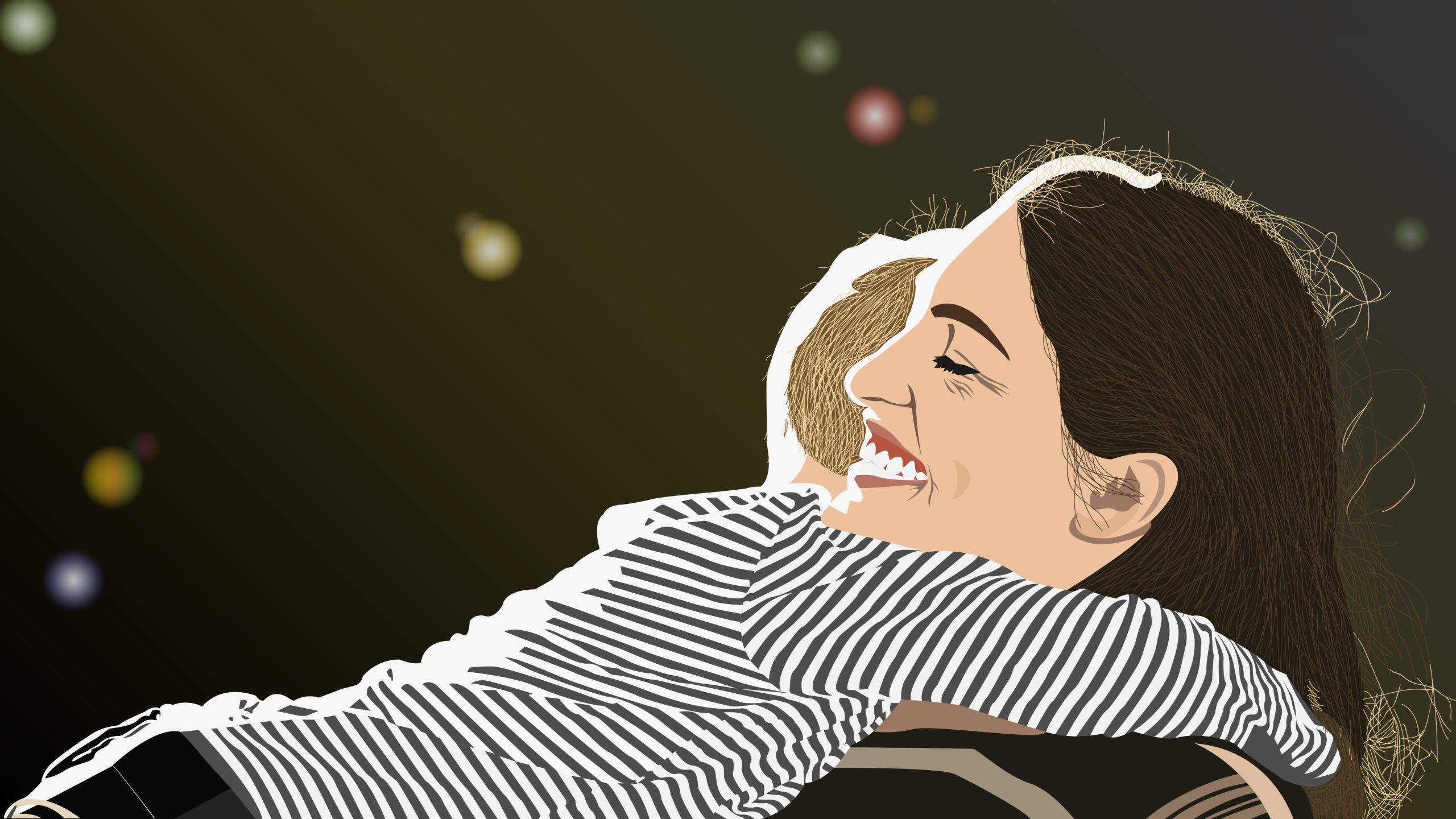 Madre Abrazada A Su Hijo